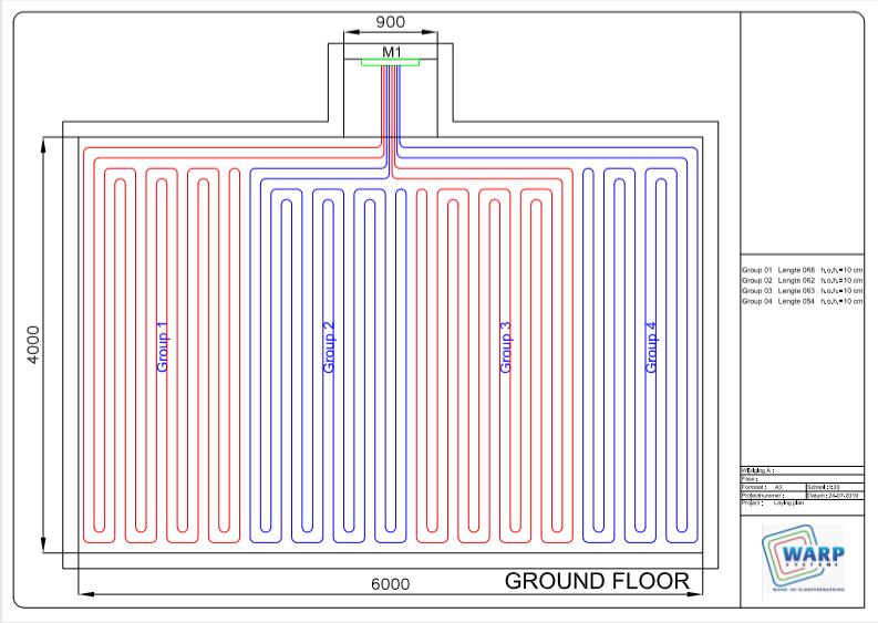 legplan vloerverwarming ontwerp